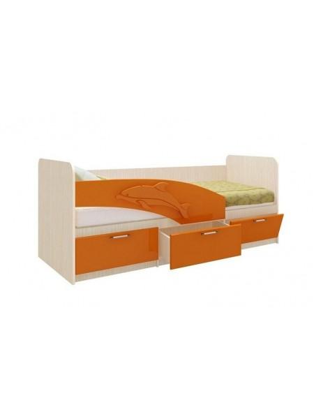 Кровать 06.223 Дельфин (оранжевый)