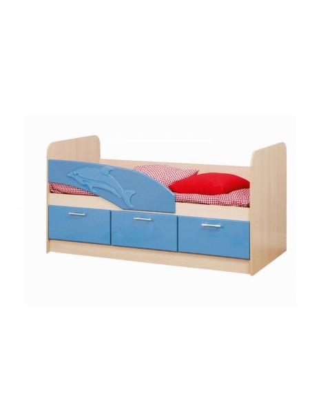 Кровать 06.223 Дельфин (голубой)