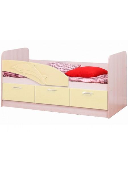 Кровать 06.222 Дельфин (крем)